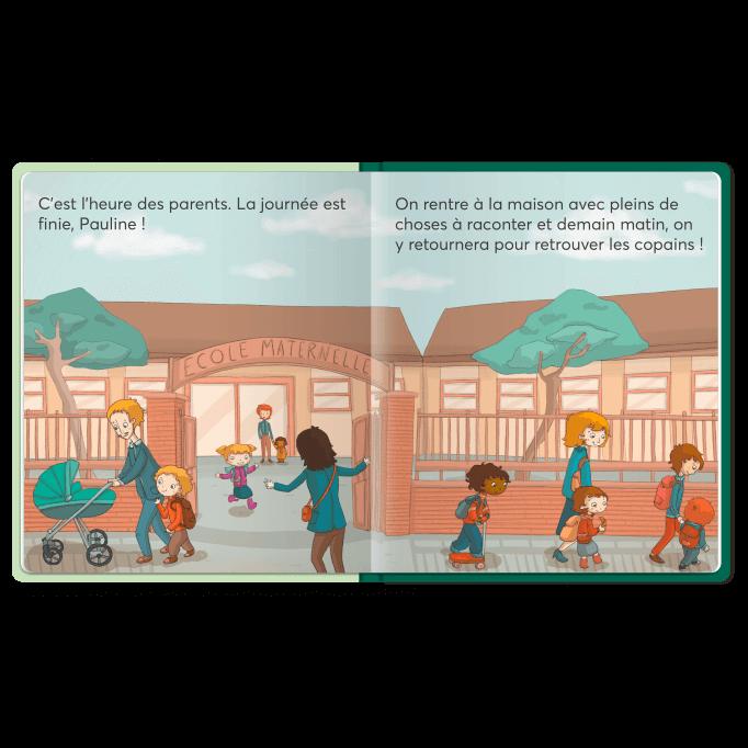 Page intérieure du livre A l'école