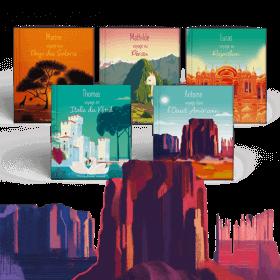 Le Pack 5 destinations Côté Terre - Mes Voyages Autour du monde pour PRENOM