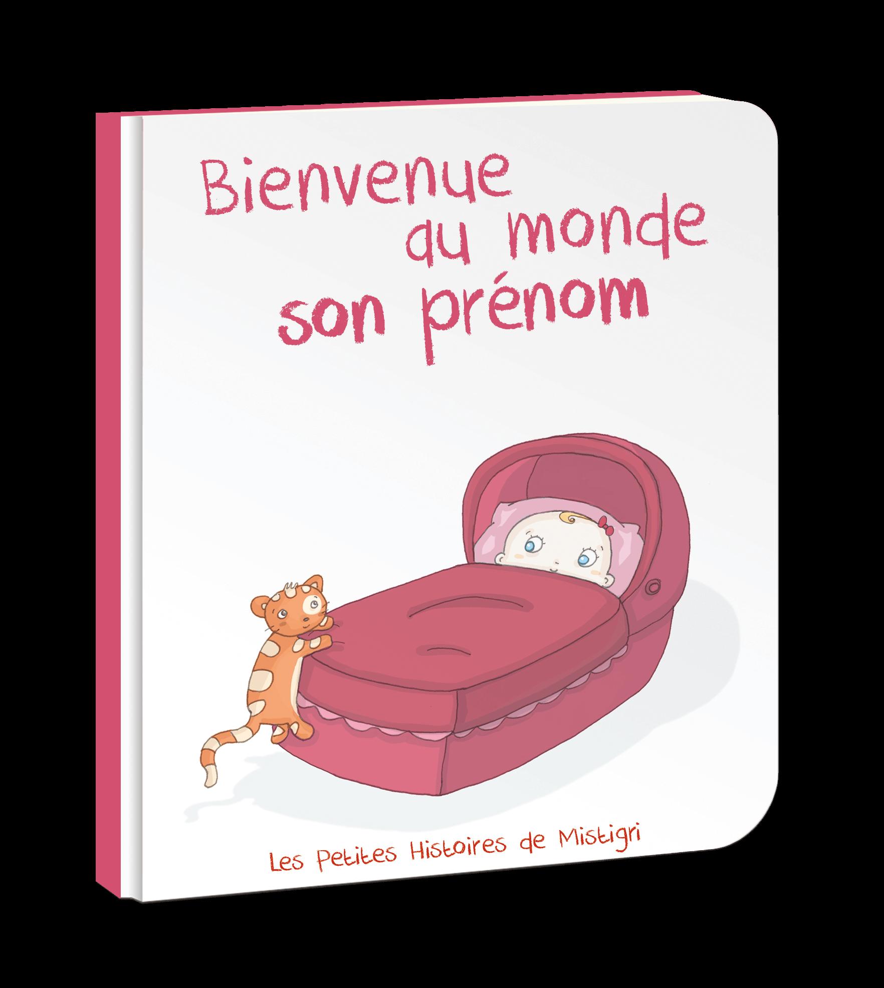 Bienvenue Au Monde Livre Personnalisé Pour Bébé